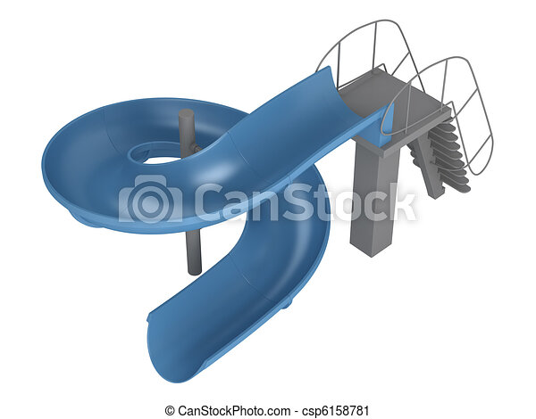 Clipart of Waterslide isolated on white background ...