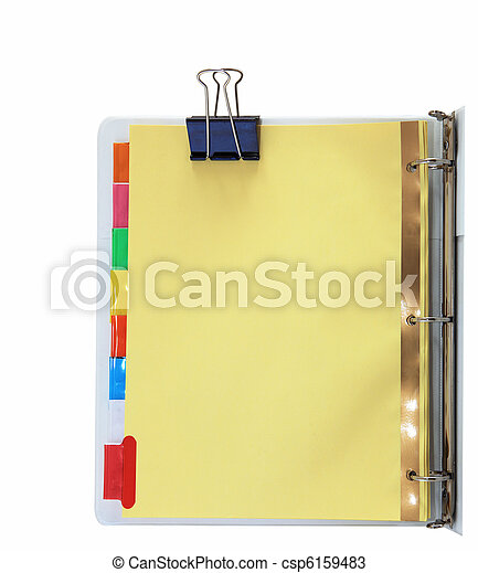 Binder and Metal Clips
