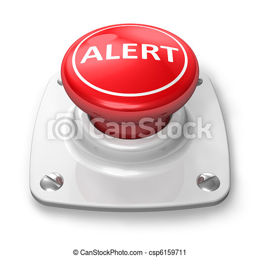 Red alert button - csp6159711