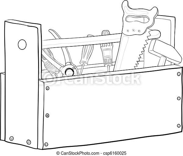 Tool box, contours - csp6160025