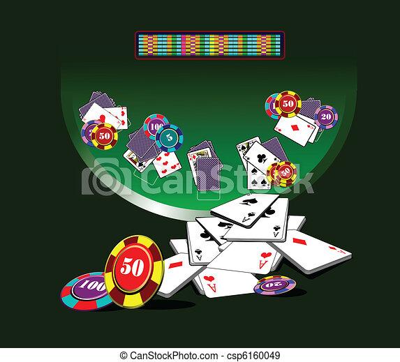 Blackjack  table and casino elemen - csp6160049