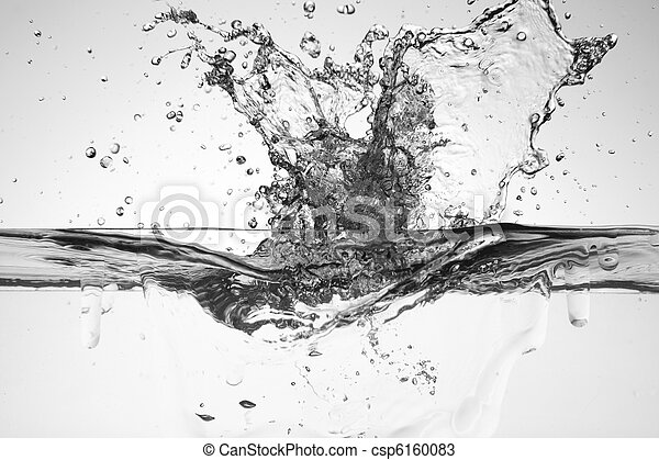 water splash on the white color background