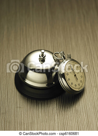 Stopwatch and service bell - csp6160681