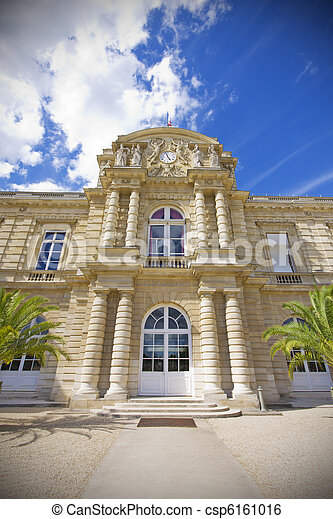 Jardin du Luxembourg, French senate - csp6161016