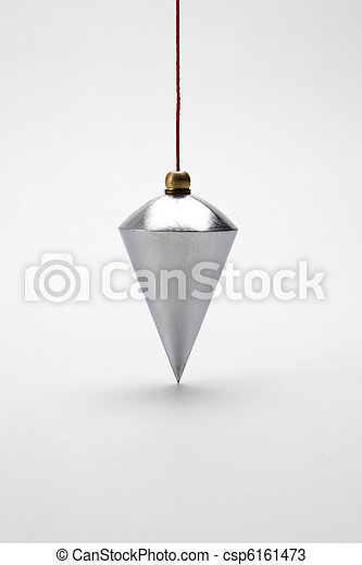 Vertical plumb on white background - csp6161473
