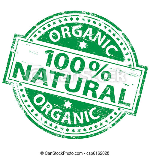 100% Natural Stamp - csp6162028