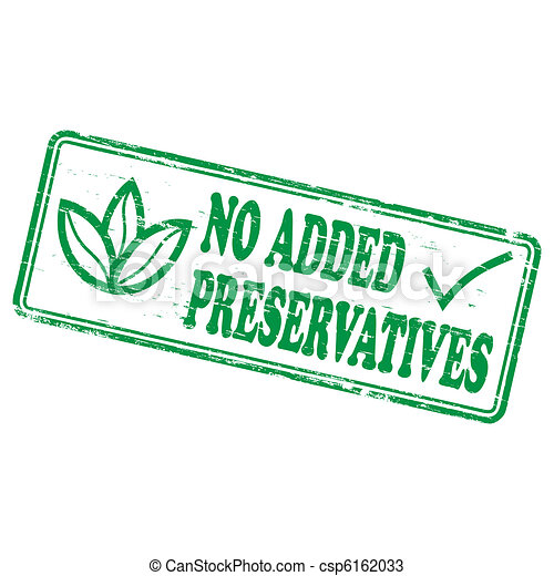 No Added Preservatives  Stamp - csp6162033