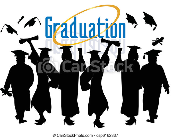 Group of Graduates Celebrating... - csp6162387