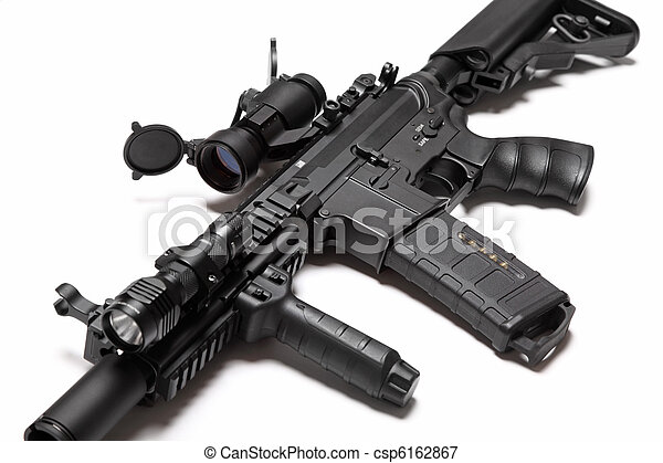 US Special Forces M4A1 custom build assault rifle. - csp6162867