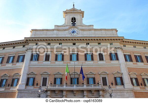 Stock de fotografos de parlamento italiano el italiano for Sede parlamento italiano