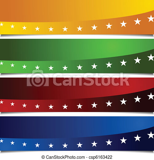 Page Peel Patriotic Banners - csp6163422
