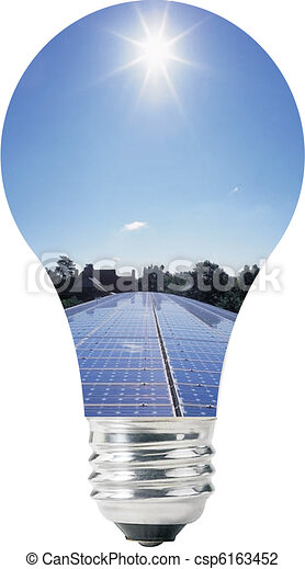Light bulb with solar panels - csp6163452