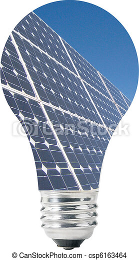 Light bulb with solar panels - csp6163464