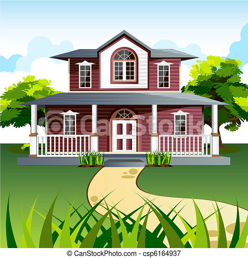 Vectors Illustration Of Sweet Home Illustration Of Front