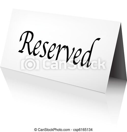 Reserved Sign - csp6165134
