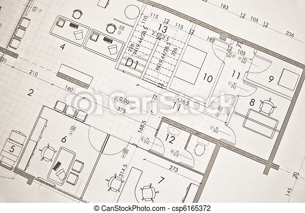 architectural plan, technical projec - csp6165372
