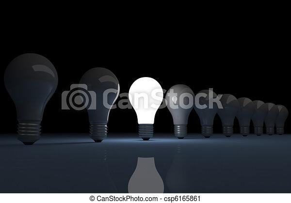 Bright lit light bulb  - csp6165861