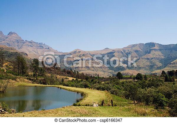 Drakensburg South Africa - csp6166347