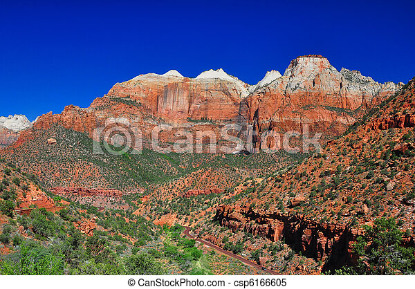 Breathtaking view of Zion National Park. - csp6166605