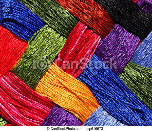 Embroidery Thread Background - csp6166731