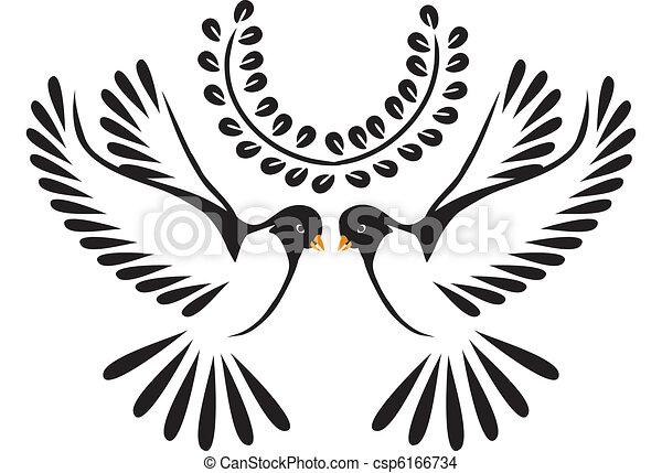 Dove or bird in flight - csp6166734