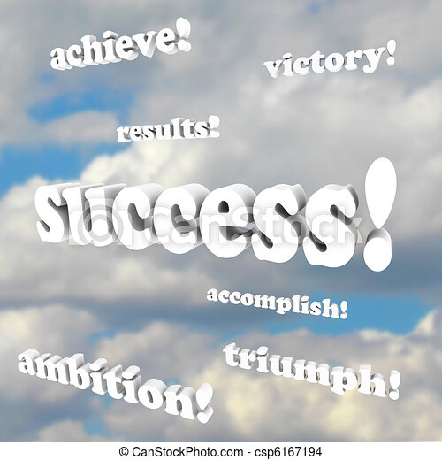 Success Words - Victory, Ambition - csp6167194