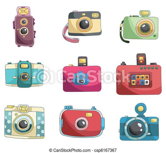cartoon camera icon  - csp6167367