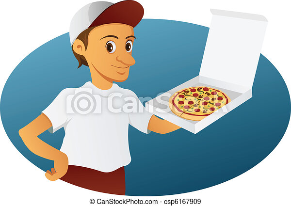 pizza delivery man - csp6167909