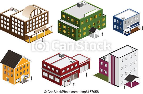 Isometric building set - csp6167958