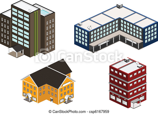 Isometric building set - csp6167959