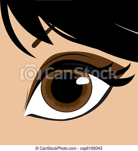 Woman eye. Vector - csp6169343