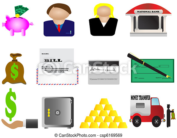 Finance and banking icons set - csp6169569