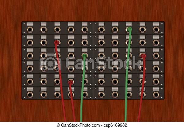 old telephone panel - csp6169982