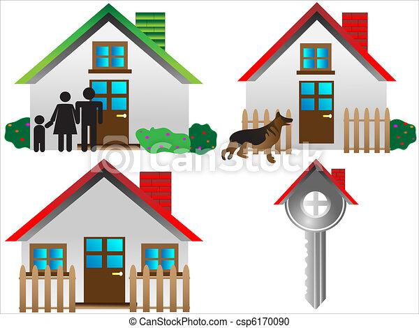 real estate icon set - csp6170090