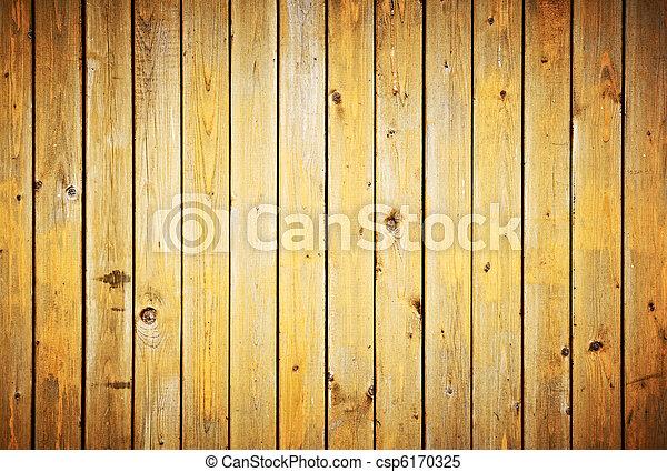 Wood planks texture. Vintage fence background. - csp6170325
