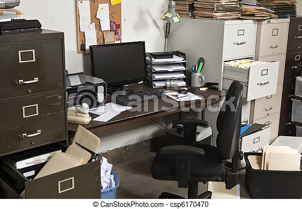 Untidy Office - csp6170470