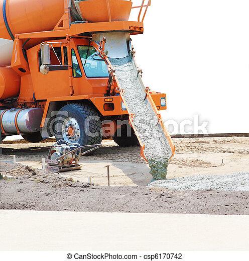 Cement Mixer Truck - csp6170742
