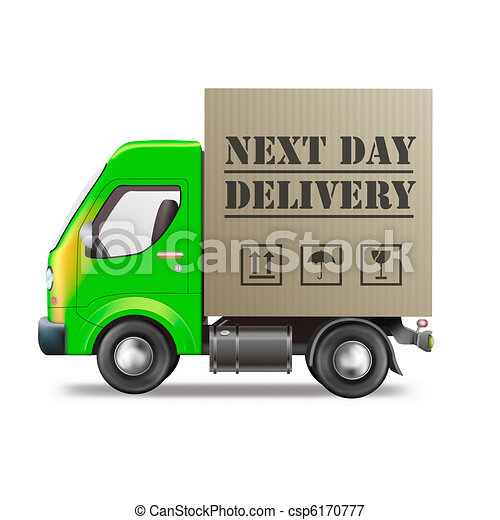 next day delivery truck - csp6170777