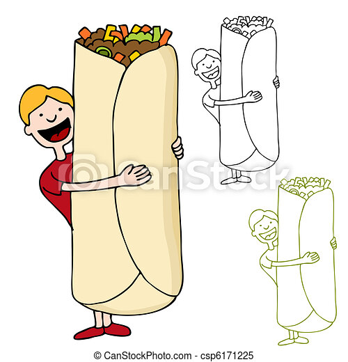 Burrito Vector Clip Art Royalty Free. 1,036 Burrito clipart vector ...