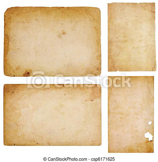 Four Vintage Paper Scraps - csp6171625