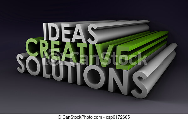 Creative Ideas and Solutions - csp6172605