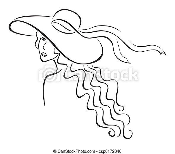 Woman in hat - csp6172846