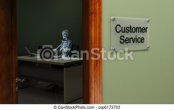 Dead customer service - csp6173703