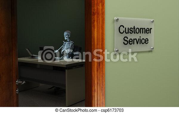 Dead customer service - csp6173703