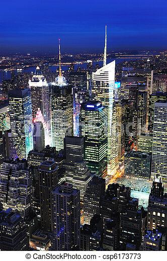 New York City Manhattan Times Square night - csp6173773