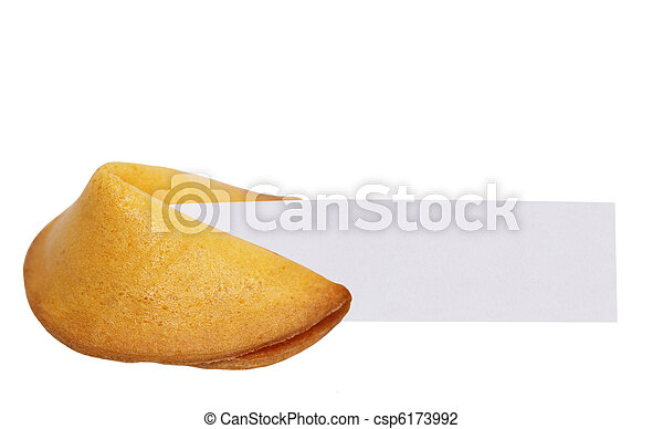 Stock Photo of Fortune Cookie Message - Fortune cookie with blank ...