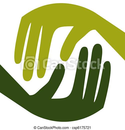 Natural caring hands.  - csp6175721