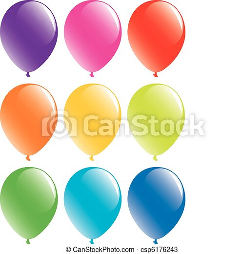 set of colorful balloons  - csp6176243