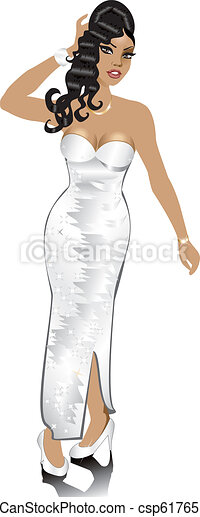 White Wedding Gown - csp6176516