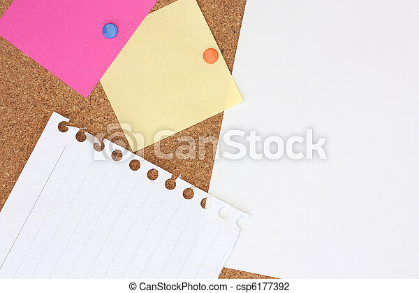 notes on a noticeboard - csp6177392